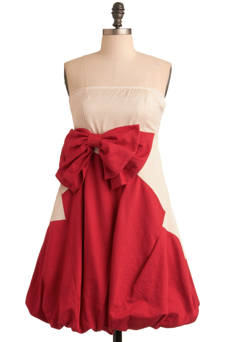 Dazzling Dinner Party Dress In Red Mod Retro Vintage