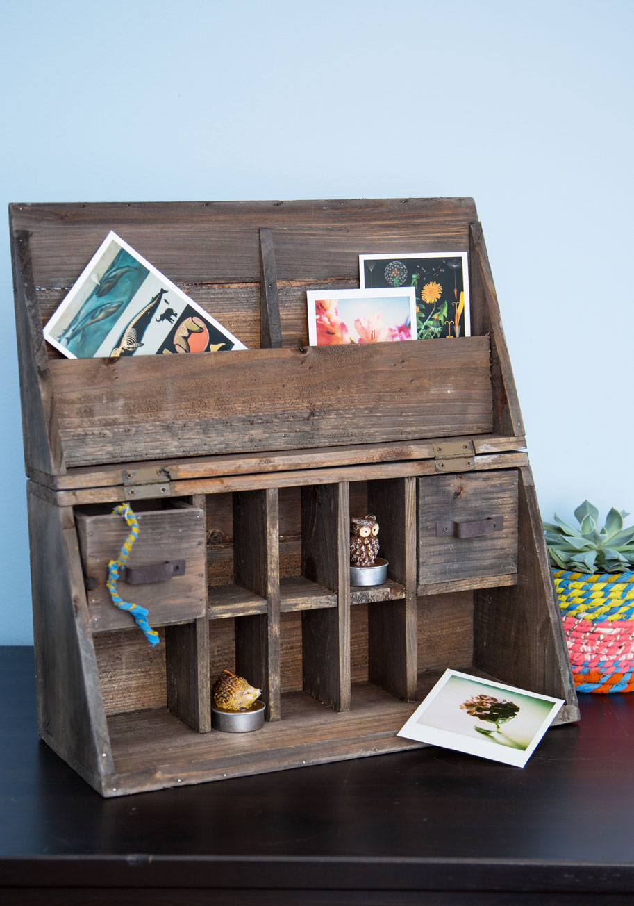 Wooden It Be Lovely Desk Organizer  Mod Retro Vintage