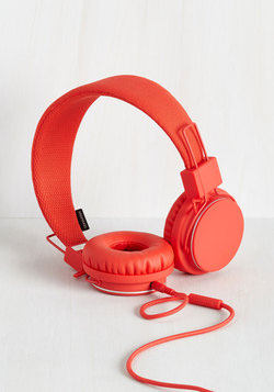 Sweetheart Shop - Thoroughly Modern Musician Headphones in Tomato