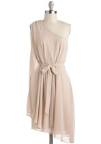 Vintage Wedding Style - Champagne Soiree Dress