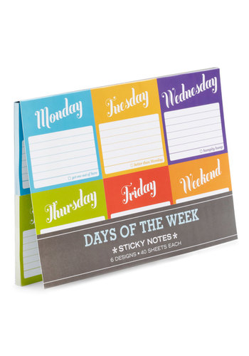 Favor of the Week Sticky Notes - Multi, Work, Dorm Decor, Handmade & DIY