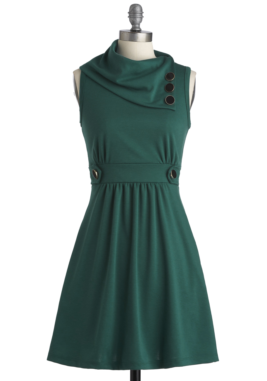Coach Tour Dress In Jade Mod Retro Vintage Dresses