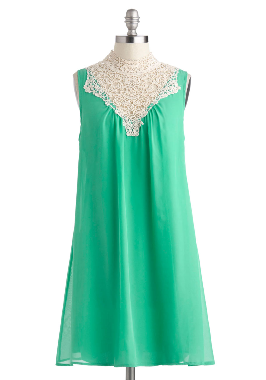 Jubilant In Jade Dress Mod Retro Vintage Dresses