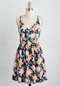 Find Your Grace in the Sun Dress in Navy | Mod Retro ...