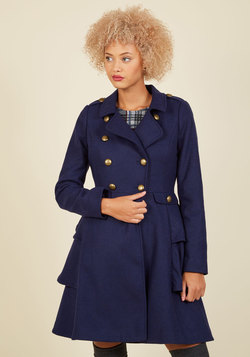 Outerwear - Fame and Flattery Coat in Navy
