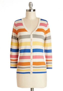 charter school cardigan in bold stripes (modcloth)