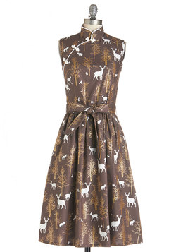 biographical book club dress in forest (modcloth)