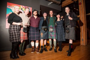 Editor Kyle Kofsky and friends in Kilts.