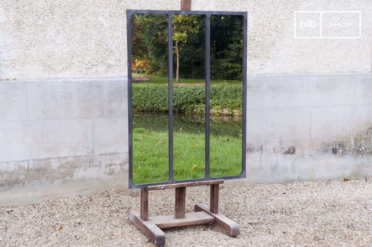 cadre deco industriel etapes de fabrication d un miroir de style industriel 7b. Black Bedroom Furniture Sets. Home Design Ideas