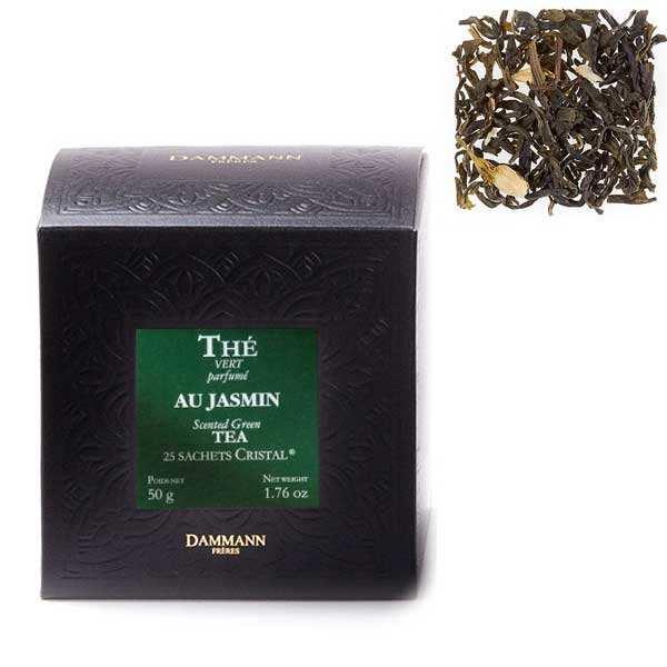 the vert au jasmin en sachets cristal dammann freres