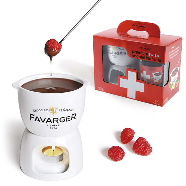 kit fondue au chocolat suisse avec mini
