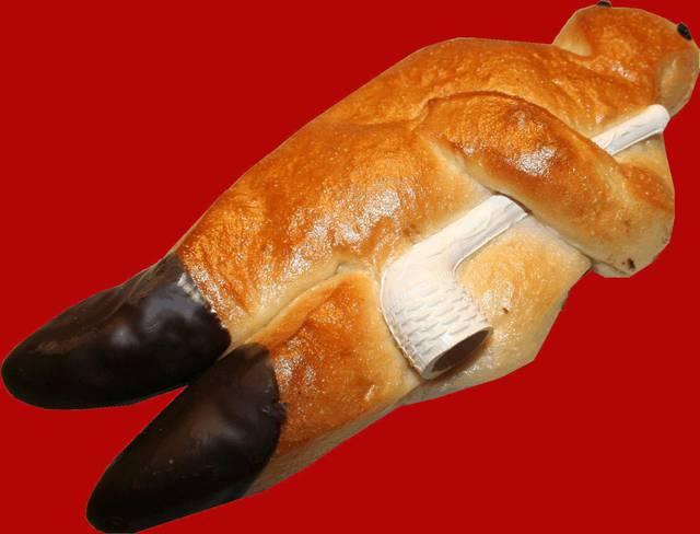 Dies ist ein Produktbild der Bäckerei Agethen aus Oberhausen. Einer Handwerksbäckerei. Produkt: Stutenmann Aufnahme in der totalen Ansicht