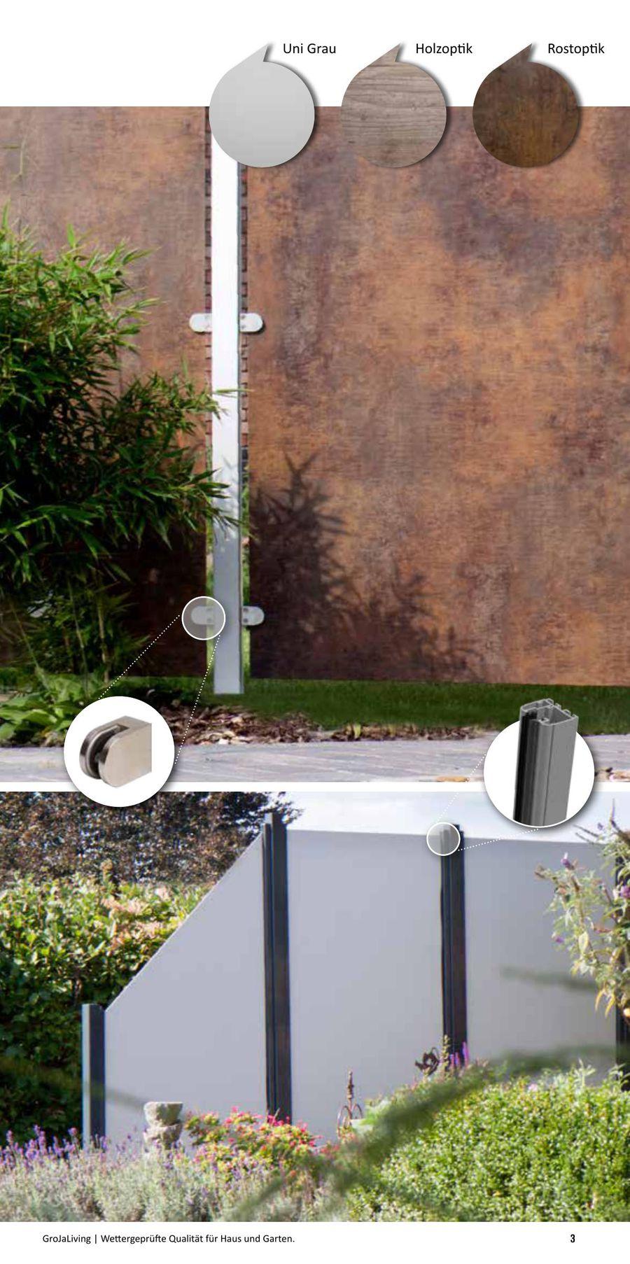 Kunststoff Sichtschutz In Holzoptik Kunststoffbretter In Holzoptik