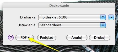 Drukowanie do PDF na MacOSX