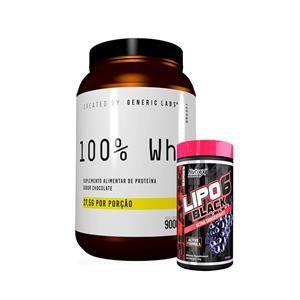 Whey (900g) + Lipo 6 (120g) - Generic Labs | Corpo Perfeito