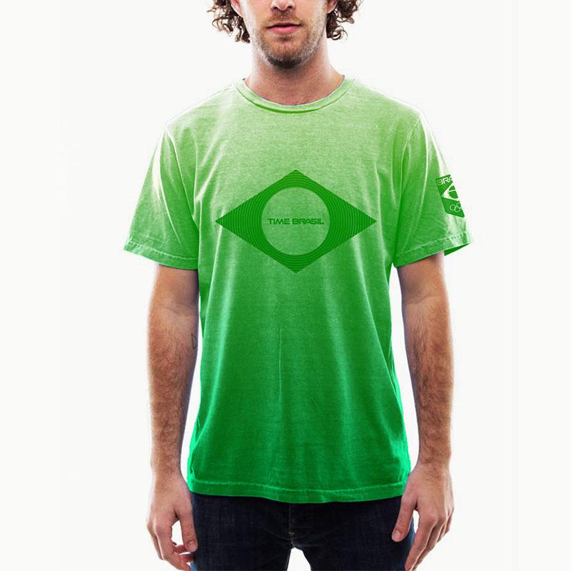 Camiseta-Airbrush-Verde-Brasil-100%-Algodão---Estonada