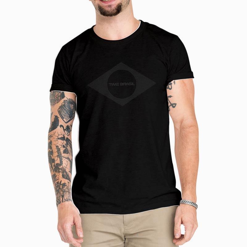 Camiseta-Unissex-Preta---100%-Algodão---Lozango