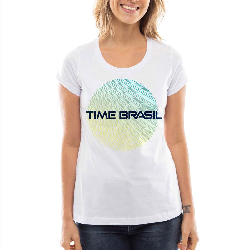 Camiseta-Feminina-Long-Branca---100%-Algodão---Círculo