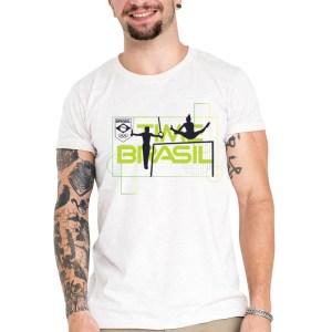 Camiseta Unissex Branca - 100% Algodão - Ginástica Artística