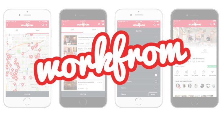 Workfrom Logo and App on Phones