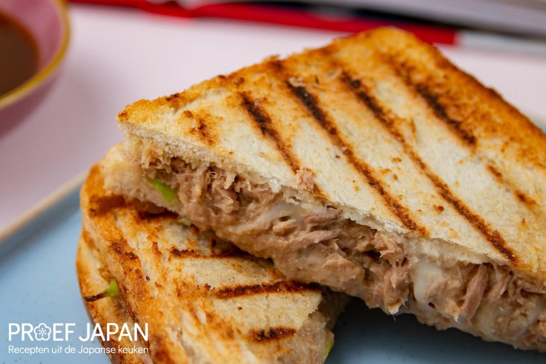 Tosti met tonijn en miso (uit Het Miso Kookboek).