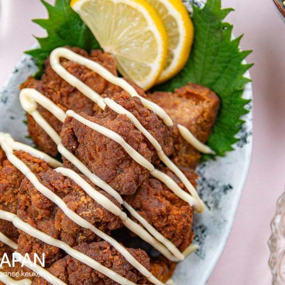 Tofu karaage, een vegetarische variant op kip karaage. Recept op Proef Japan.