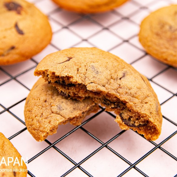 Proef Japan foto van ons recept voor miso chocolate chip cookies.