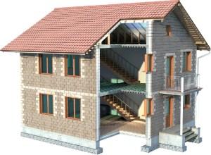технология строительства домов из теплоблоков, этапы строительства домов из теплоблоков