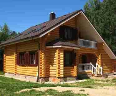 строительство домов из бревна, технология строительства домов из бревна