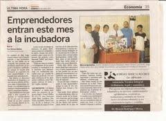 Incubadora de Empresas creada en Consorcio de Emprendedores