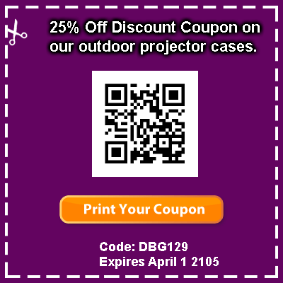 proenc outdoor projector case discount coupon