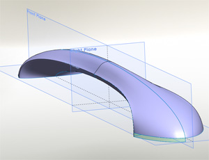 Solidworks Surfacing class model fridge handle