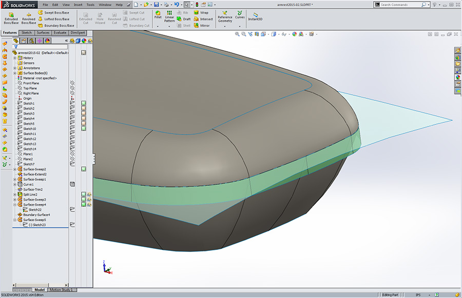 SolidWorks Training : Introduction to Surfacing