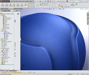 Dog ball demonstrating Solidworks Surfacing