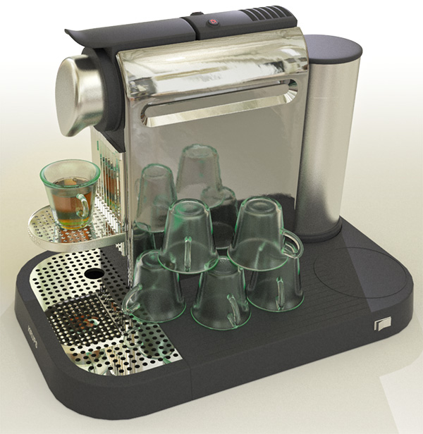 Espresso Machine render using Alias