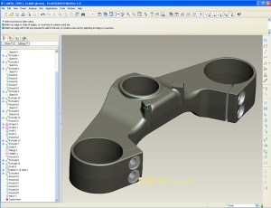 Die Cast Triple clamp ready for tooling created from a machined prototype model.