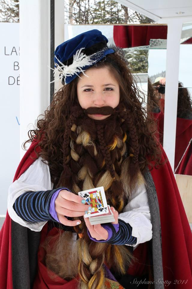 femme à barbe, carnaval, prof-alternatif