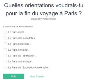 Le français, c'est facile - Vote sur le Strawpoll !