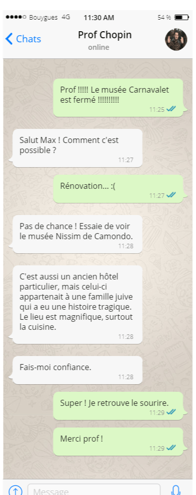 Le Paris authentique - Whatsapp
