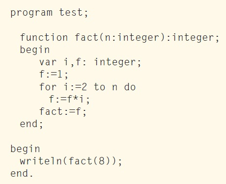 LISTING 3: This is the PASCAL version. Easy to read.