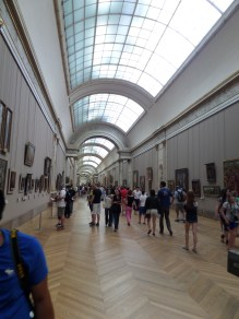 A long hall of the Denon wing (other wings are Sully and Richelieu)