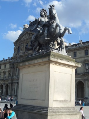Statue of Louis XIV, French king and patron of the arts