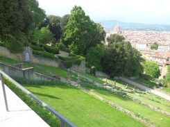 Terraced lawn at Bardini Gardens