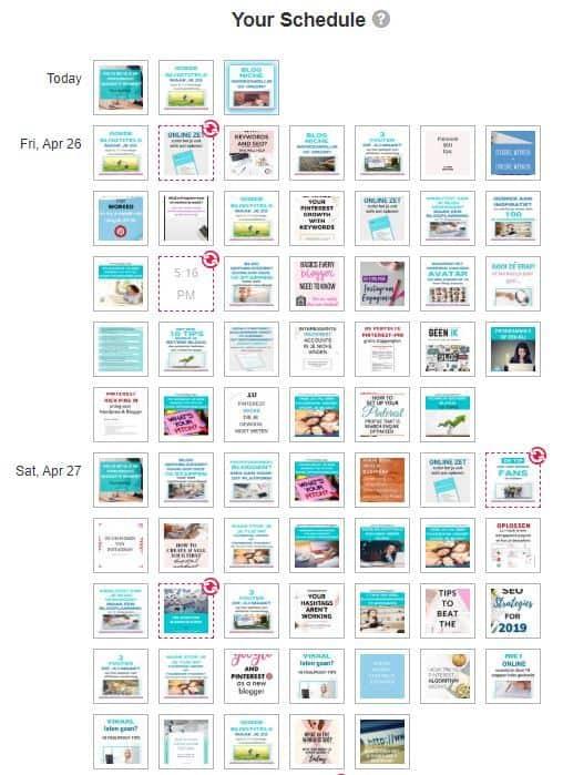 Favoriete blogtools: Pinterest-schedule in Tailwind