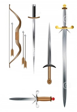 medieval-weapons-swords-axes-bow-vectors-45346267