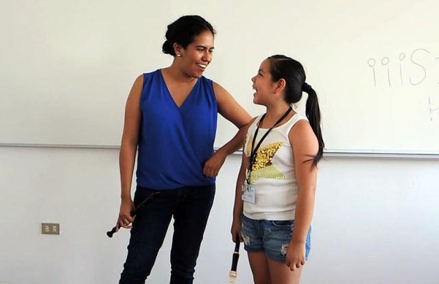 Lia en clase maestra con Luciana Castillo (foto: Jocelyn Lugo).