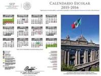 Calendario escolar 2015-2016 de la SEP (versión oficial)