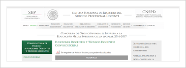 Convocatoria ingreso docente educaci n media superior 2016 for Convocatoria para concurso docente 2016