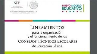 Nuevos lineamientos para la Organización y Funcionamiento de los Consejos Técnicos Escolares