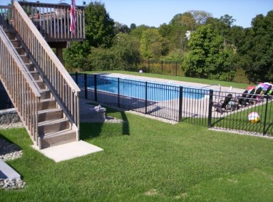 Avalable in all colors - OnGuard Starling Style 54 inch BOCA code complaint pool fence in black